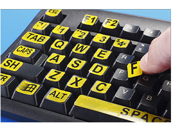 Large Print Keyboard Labels