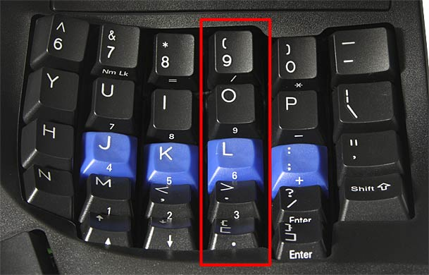 Vertical key layout