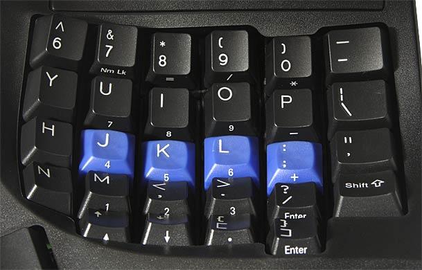 Embedded 10-key layout